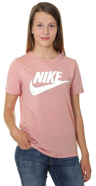 pink nike t shirt women's