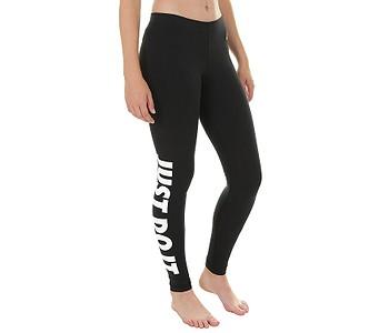 legíny Nike Sportswear Legging Leg A See Just Do It - 010 Black White 8cfdec9f1b