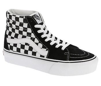 boty Vans Sk8-Hi Platform 2 - Checkerboard/True White