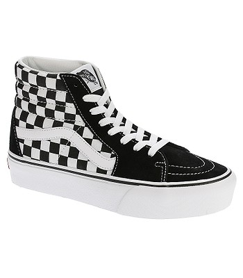 85e4a4aabe shoes Vans Sk8-Hi Platform 2 - Checkerboard True White - blackcomb-shop.eu