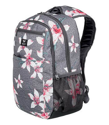 cab1176930 backpack Roxy Here You Are - KPG6 Charcoal Heather Flower Field - women´s -  blackcomb-shop.eu
