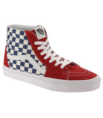 164e5cd6b52e9f shoes Vans Sk8-Hi - BMX Checkerboard True Blue Red - snowboard-online.eu