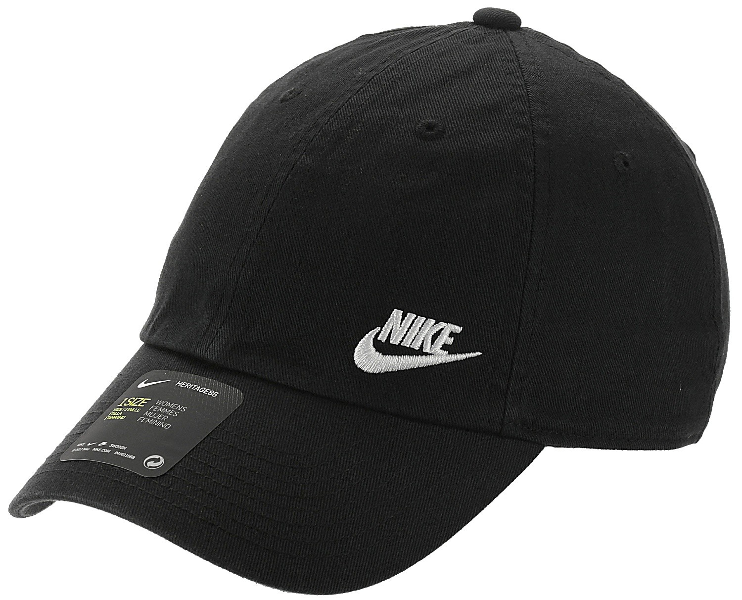 2ca79328e6428 ... coupon code for cap nike sportswear heritage86 futura classic 010 black  white womens 37134 d67ae