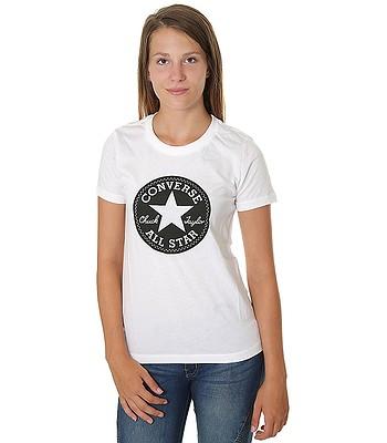 6d45e42e3025bc T-Shirt Converse Chuck Patch Crew 10007043 - A01 White - women´s -  blackcomb-shop.eu