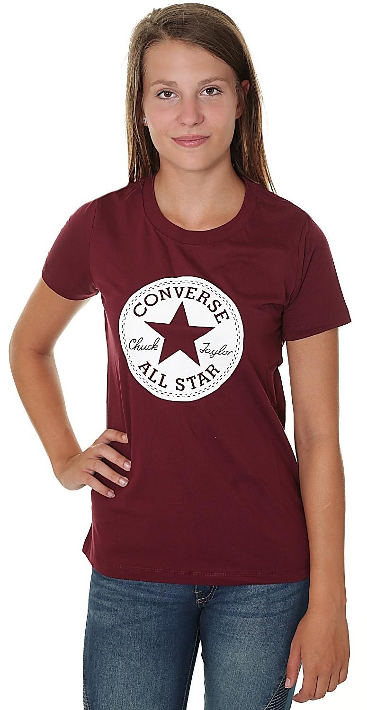 T-Shirt Converse Chuck Patch Crew/10007043 - A04/Dark Burgundy