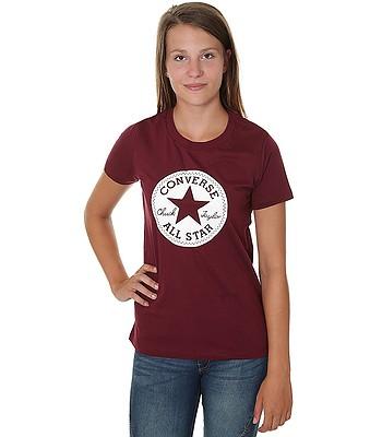 T-Shirt Converse Chuck Patch Crew 10007043 - A04 Dark Burgundy - women´s -  blackcomb-shop.eu b8f8869934