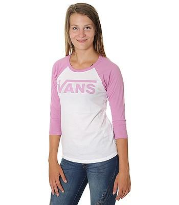 ac9b6a09579867 T-Shirt Vans Flying V Raglan - White Violet - women´s - blackcomb-shop.eu