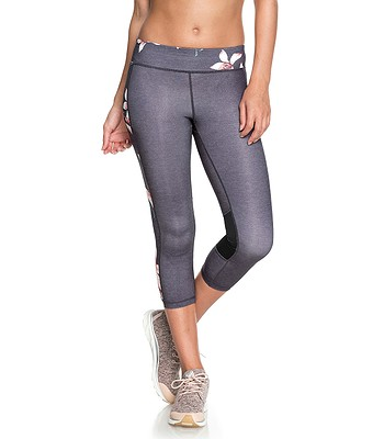 aeb8f1137b leggings Roxy Spy Game Capri 2 - KPG6 Charcoal Heather Flower Field -  women´s - snowboard-online.eu