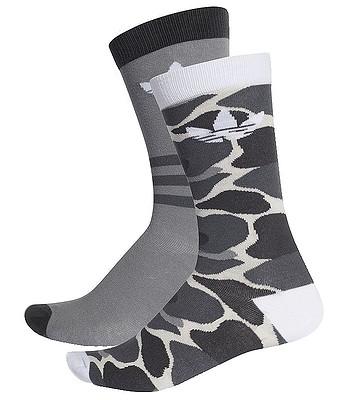 6c7c8150622 ponožky adidas Originals Thin Crew Trefoil Stripes Aop 2 Pack -  Multicolor White