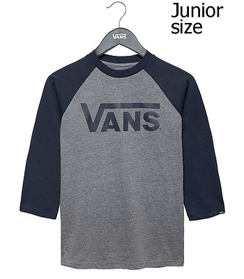 tričko Vans Classic Raglan - Heather Gray Dress Blues  8755df71ef