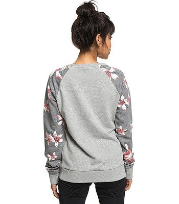 05f2a97205 mikina Roxy Sunrise Delicacy Colorblock - KPG6 Charcoal Heather Flower Field