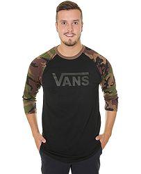 tričko Vans Classic Raglan - Black Camo c8328f02946