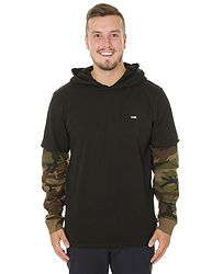 tričko Vans Woodland LS - Black Camo 96146551e2e