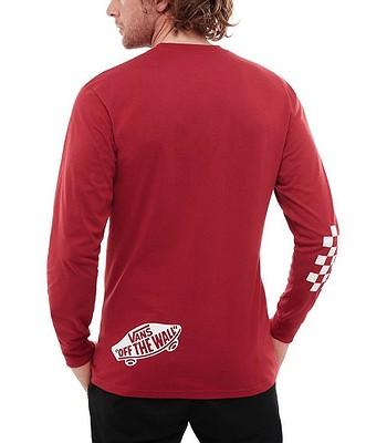 9890ce967b T-Shirt Vans Distorted LS - Cardinal - men´s - snowboard-online.eu