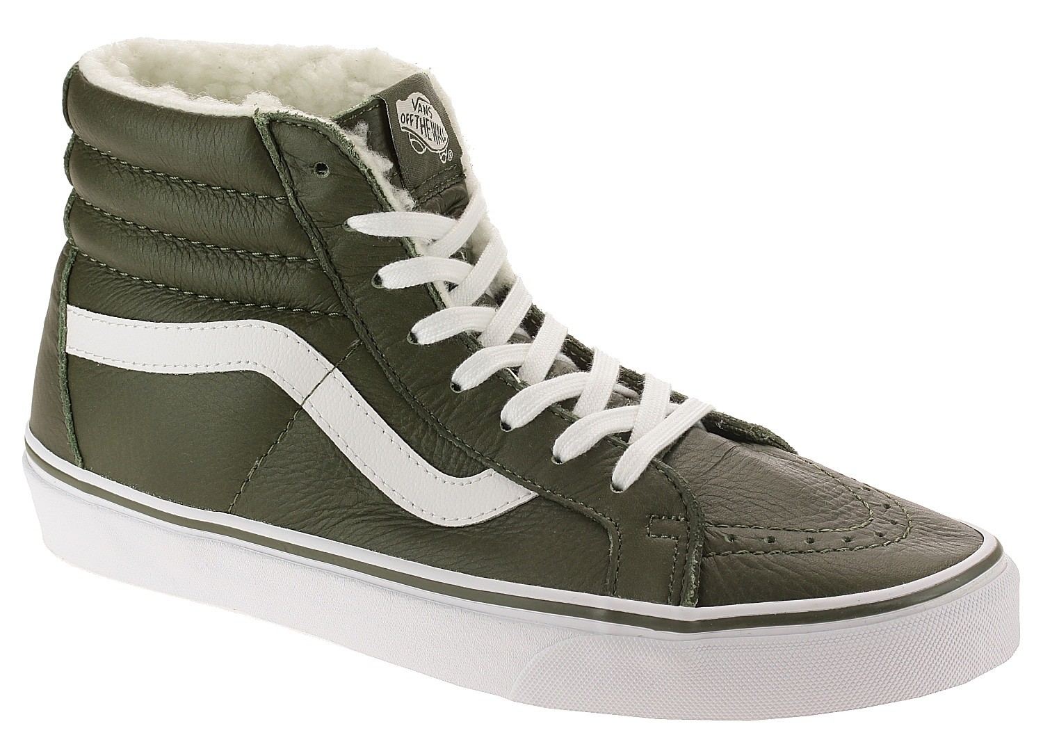 Schuhe Vans Sk8-Hi Reissue - Leather/Fleece/Olive Night - blackcomb ...