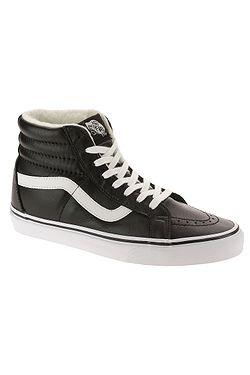 boty Vans Sk8-Hi Reissue - Leather Fleece Black True White ... c5cdce2105