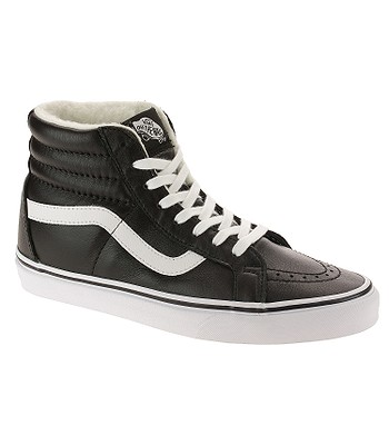 topánky Vans Sk8-Hi Reissue - Leather Fleece Black True White ... 80371583cd0
