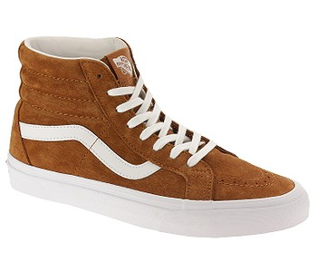 c6f123e1dd7d1 boty Vans Sk8-Hi Reissue - Pig Suede/Leather Brown/True White - boty ...