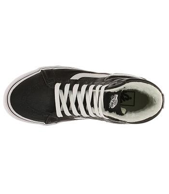 topánky Vans Sk8-Hi Reissue - Leather Fleece Black True White -  snowboard-online.sk 84aef85ba60
