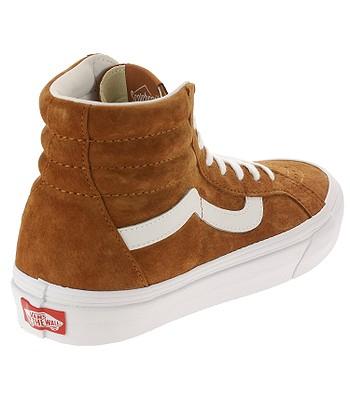 9e0b21dcf78 shoes Vans Sk8-Hi Reissue - Pig Suede Leather Brown True White ...
