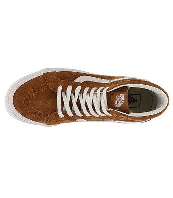 6ee41d6a60 shoes Vans Sk8-Hi Reissue - Pig Suede Leather Brown True White. IN STOCK  -20%