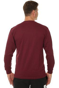 ... tričko Vans Classic LS - Burgundy White 4d38ac9676d