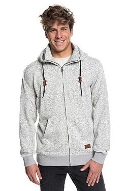 mikina Quiksilver Keller Zip - SJSH Light Gray Heather 1004b6c76ff