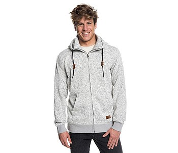 75353e4e08 MIKINA QUIKSILVER KELLER ZIP - SJSH LIGHT GRAY HEATHER - skate-online.cz