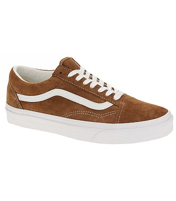 720addf22410 boty Vans Old Skool - Pig Suede Leather Brown True White