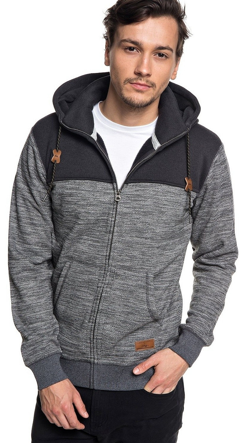 Quiksilver Keller Block Zip Sweatshirt Krphdark Men´s Gray Heather BqdpUnUx