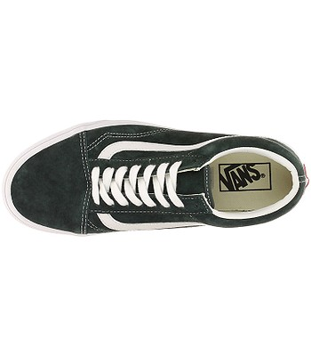 970116a438b89e shoes Vans Old Skool - Pig Suede Darkest Spruce True White. IN STOCK -15%