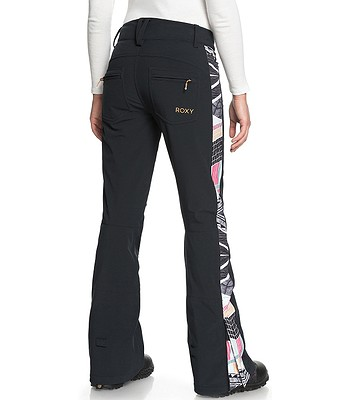 3846427135d3 kalhoty Roxy Creek - KVJ7 True Black Pop Snow Lines