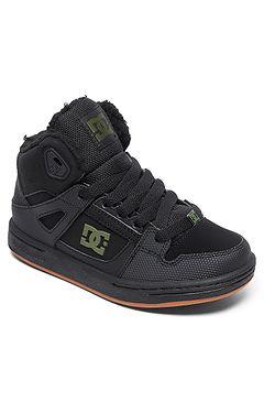 d49f7c42fd3f9 detské topánky DC Pure High -Top WNT - XKKG/Black/Black/Green