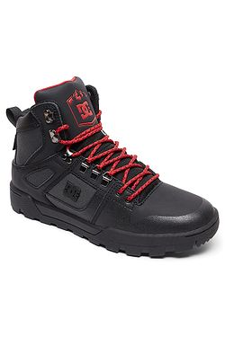 a0f2a4636103 boty DC Pure High -Top WR - XKSR Black Gray Red ...