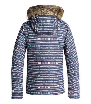 bunda Roxy Jet Ski - BQY4 Crown Blue Indie Stripes - snowboard-online.sk 19117607c36