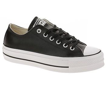 boty Converse Chuck Taylor All Star Lift Clean OX - 561681/Black/Black/White