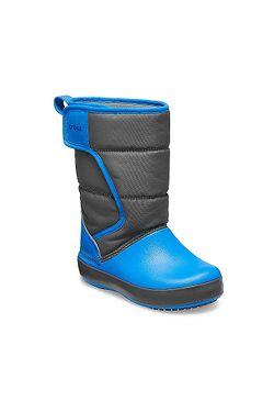 detské topánky Crocs Lodge Point Snow Boot - Slate Gray Ocean ... 7efc35a98bc