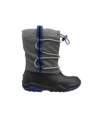 detské topánky Crocs Swiftwater Waterproof Boot - Black Blue Jean ... 82245e9a5eb