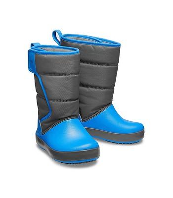 detské topánky Crocs Lodge Point Snow Boot - Slate Gray Ocean ... 3be880b286
