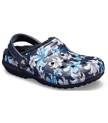 boty Crocs Classic Lined Graphic II Clog - Lavender Navy  cceb327687
