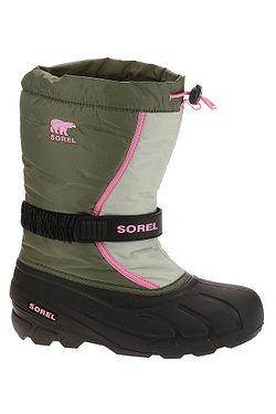 detské topánky Sorel Flurry - Hiker Green Bubblegum 3100b7a1c92
