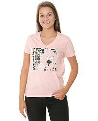 tričko Converse Linear Floral Box Star V Neck 10007058 - A03 Storm Pink  Heather 1bd1d2300b
