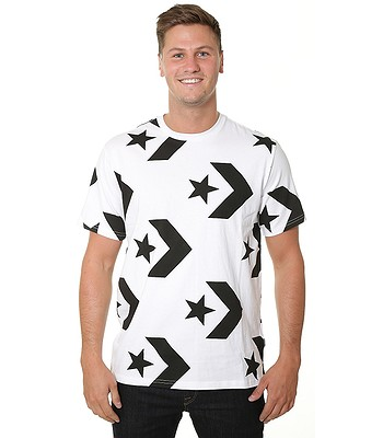 20903350eac47f T-Shirt Converse Star Chevron Print 10007221 - A01 White - men´s ...