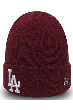 čepice New Era Essential Cuff Knit MLB Los Angeles Dodgers - Cardinal White bdfa273555