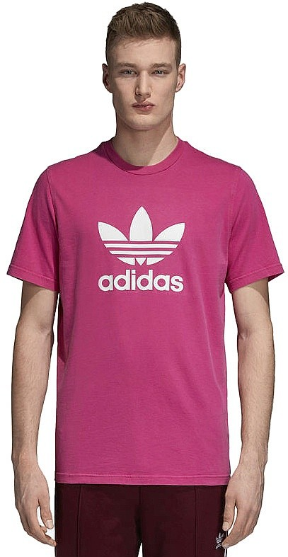T-Shirt adidas Originals Trefoil - Shock Pink - men´s - snowboard ...