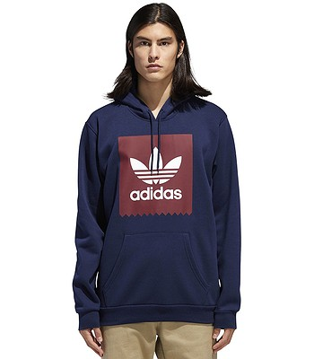 mikina adidas Originals Solid Blackbird - Collegialite Navy Collegialite  Burgundy White bfe78d2db95