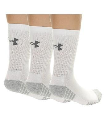 d6190ff33 ponožky Under Armour Heatgear Tech Crew 3 Pack - 100/White/Gray ...