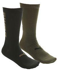 a7c3798002f2f ponožky Puma 282003001/Big Logo 2 Pack - Olive Green/Black