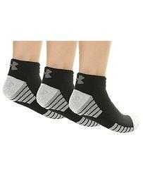 f823ed0cb ponožky Under Armour Heatgear Tech Low Cut 3 Pack - 001/Black/Gray