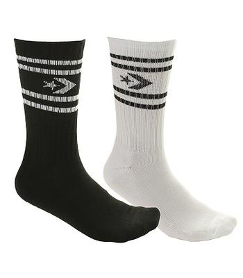 37caa998824ecb socks Converse Vintage Star Chevron Stripe Crew 2 Pack - E729A White Black  - men´s - snowboard-online.eu